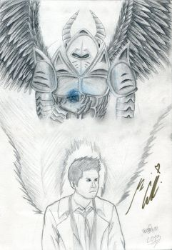 The Angel Warrior named Castiel by Blader3000