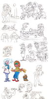 Sketch Dump - July '14 by Granitoons