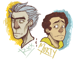 rick n morty by evilsinlove