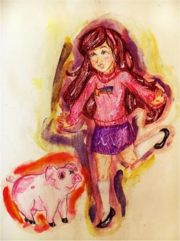 Mabel and Waddles by NatanychR