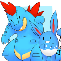 Feraligatr and Azumarill