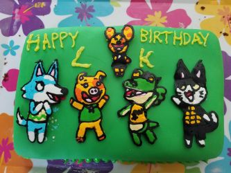 Animal Crossing Birthday Cake by MangaFox156