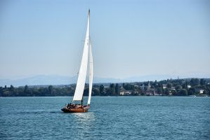 sailboat on lake constance by OfTheDunes
