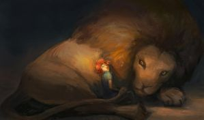 The boy and the lion by AngHuiQing