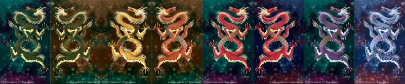 8 Dragon Color Tests by keight
