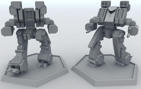 Mech Work in Progress 3 by AceDarkfire