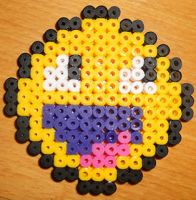 Awesome Face - Perler or Hama by Chrisbeeblack