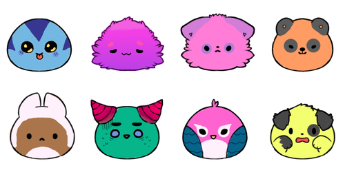 Lil' blob adopts by DarkBachuru