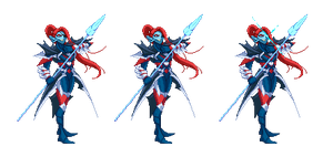 Commission: Undyne, The Undying by barker09