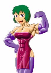 pretty muscle girl by astaroth90