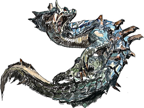 Lagiacrus by gingrjoke