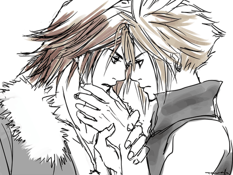 Leon x Cloud by hummingbird712