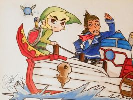 Link and Linebeck~ The Legend of Zelda by WFpeonix