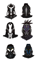 Cyborg Headz by Sunkaro