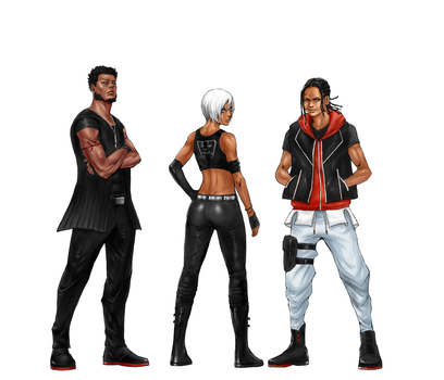 Project Allure Main Characters by Reiup