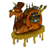 Steam punk snail collab by cross-the-swirl