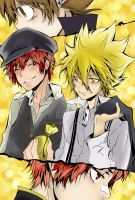 Vongola and Shimon by Kue-chann