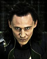 Loki with green eyes by Betelgeuse7