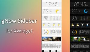 gNow Sidebar for xwidget by Jimking