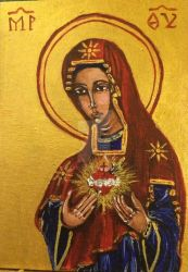 Immaculate Heart Blessed Virgin Mary by ev21