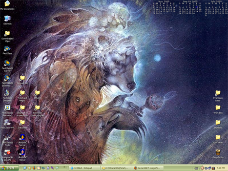 Today's desktop - feat. Boulet by mags253