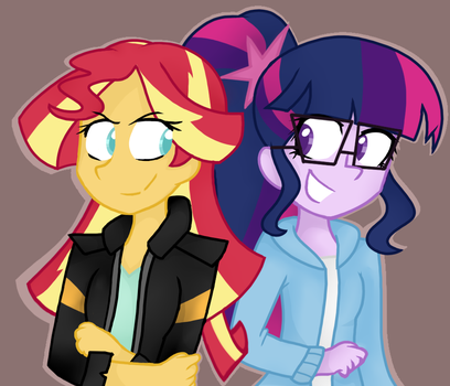Sunset and Sci-Twi by RozzerTrask