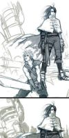 cloud and vincent by cuson