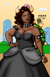 Queen Bitch Bowsette by Blackmoonrose13