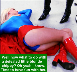 Supergirl Down! Oh No! by McGheeny