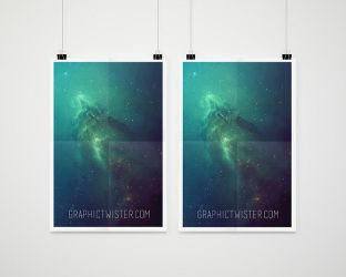 Double Psd Poster Mockup Presentation by graphictwister
