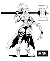 [Commission] Viking girl lineart commission by beard-mangaka-guy