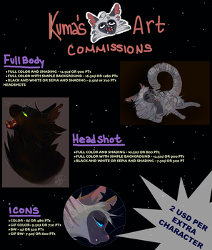 COMMISSIONS ARE OPEN!! by KumaBuns