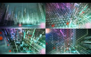 Cyber city. Concept 03. by Shelest