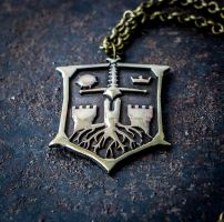 For Honor Knights brass pendant by KristoLiiva