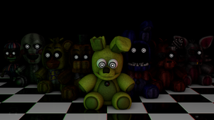 [C4D] FNaF3 Plushies!! by GaboCOart