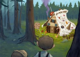 Hansel and Gretel illustration4 by KittenOnKite