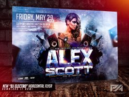 DJ Electro Horizontal Flyer Templates by pawlowskiart