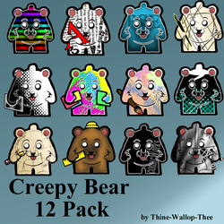 Creepy Bears 12pack for Win by Thine-WALLOP-Thee