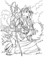 Light Guider Wolf Sketch by lady-cybercat