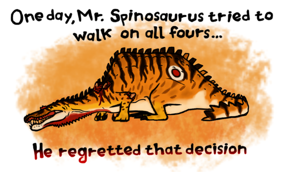 The misadventures of Mr. Spinosaurus by ZeWqt