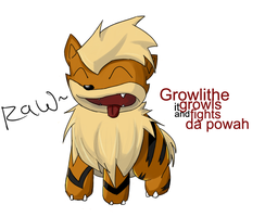 Growlithe by Shinobka