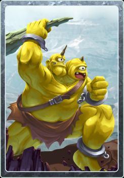 Card design - Ogre by LightBlackStudios