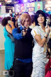 Cosplay Ada Wong - Leon S.Kennedy Japan Expo 2015 by jennifer7878