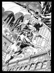 Batman and Nightwing, private commission. by StazJohnson