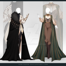(CLOSED) Adoptable Outfit Auction 309-310 by JawitReen