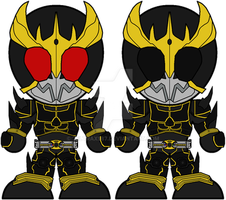 Chibi Kamen Rider Kuuga - Ultimate Form by Zeltrax987