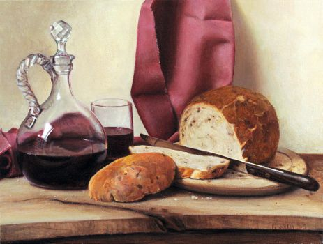 Bread and Wine by Keriberrygirl