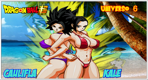 Dbs Caulifla Kale In Beach by SUPERFERNANDOXT