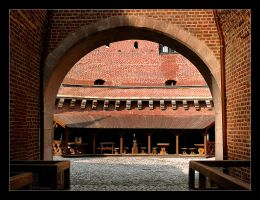 In The Interior Of The Barbican In Krakow by skarzynscy