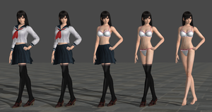 Miu Hinasaki School Uniform Model for XPS 11.8 by lengxuefenghun